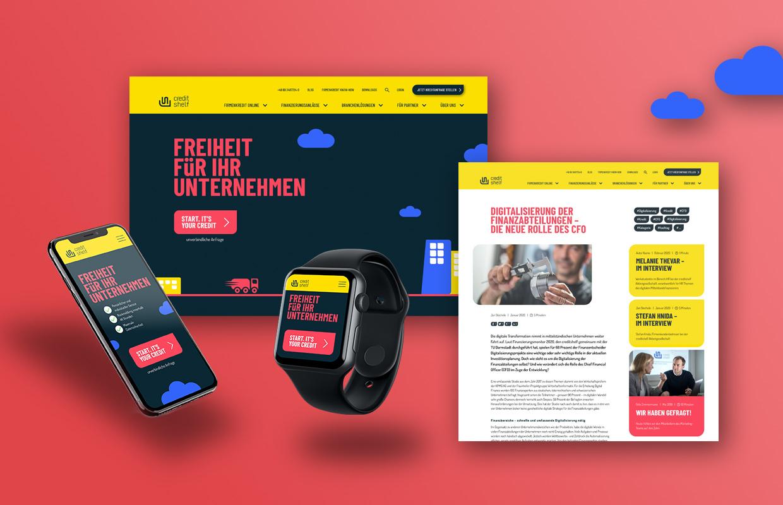 Creditshelf Corporate Design Website