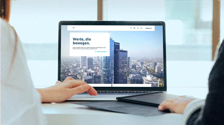 Storytelling Corporate Website Helaba Landing Page