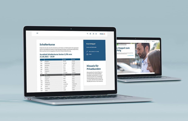 helaba corporate website laptop