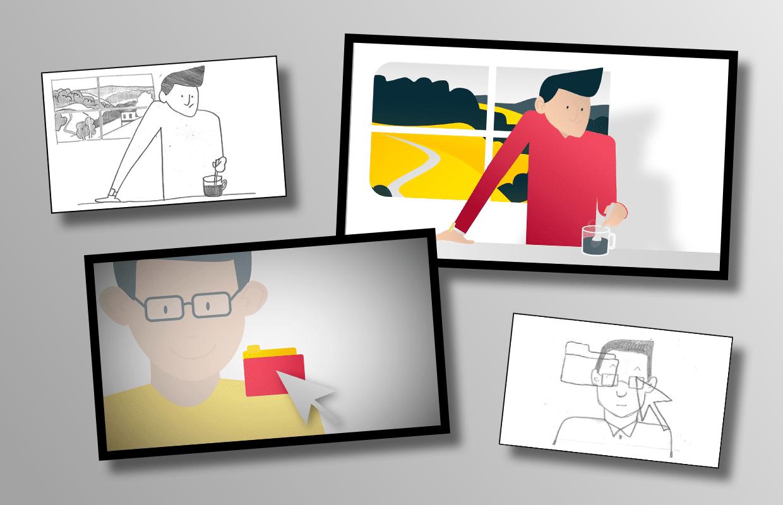 Konzeption und Produktion Erklärfilm Creditshelf Animation Entwicklung