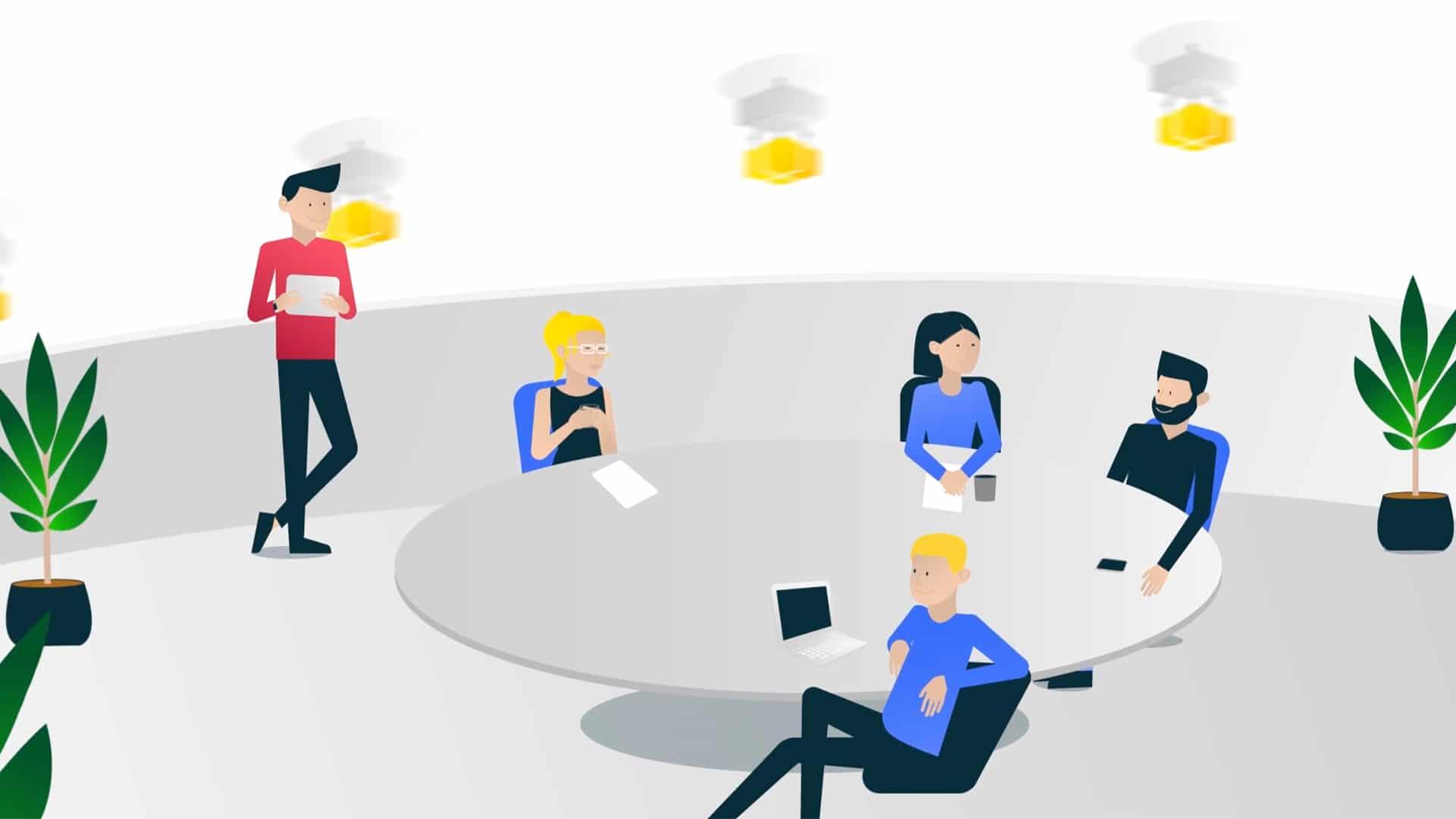 Konzeption und Produktion Erklärfilm Creditshelf Webauftritt Online Team