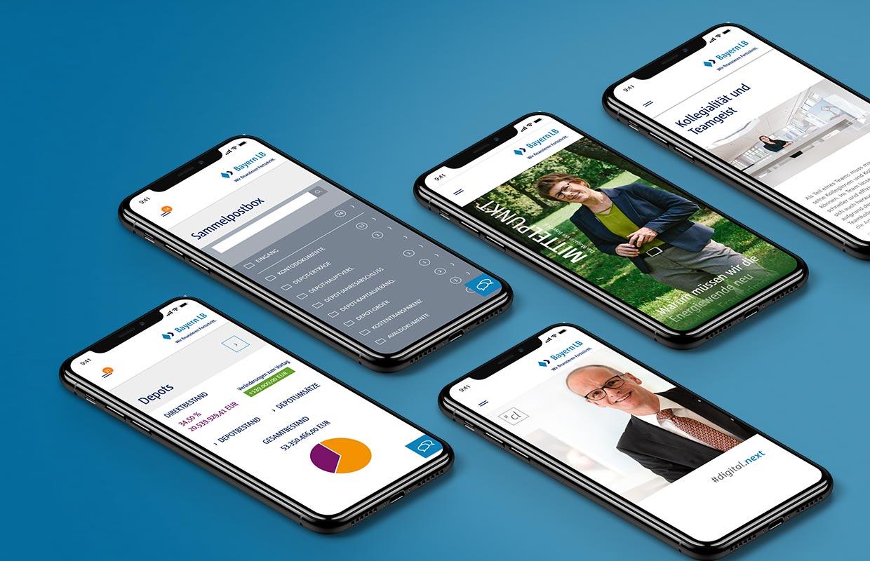 Corporate Website Responsive Webdesign BayernLB Mobile Design