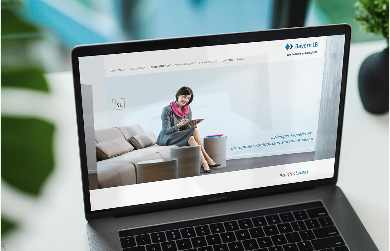 Corporate Website Responsive Webdesign BayernLB Laptop Design