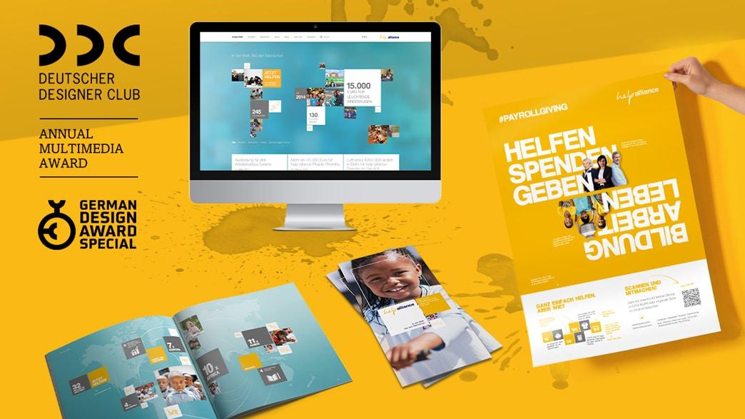 Brand und Corpoarte Design help alliance Print Digital
