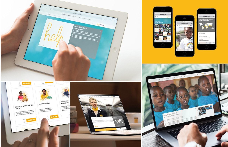 Brand und Corporate Design help alliance Digital Design