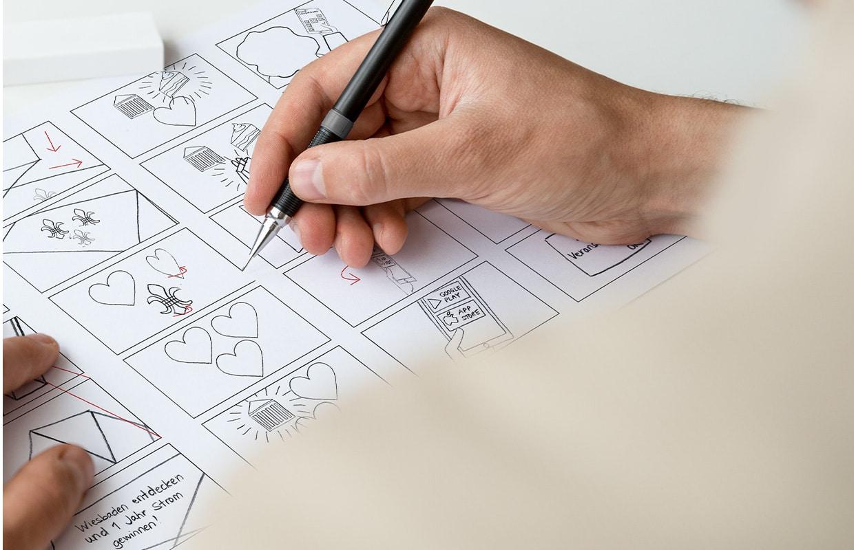 Eswe Erklärfilm Konzeption und Produktion Sketch Storyboard zeichnen