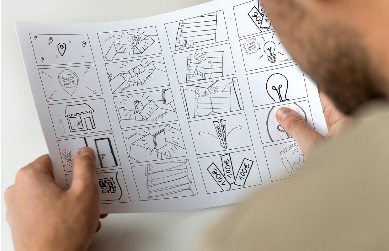 Eswe Erklärfilm Konzeption und Produktion Sketch Storyboard