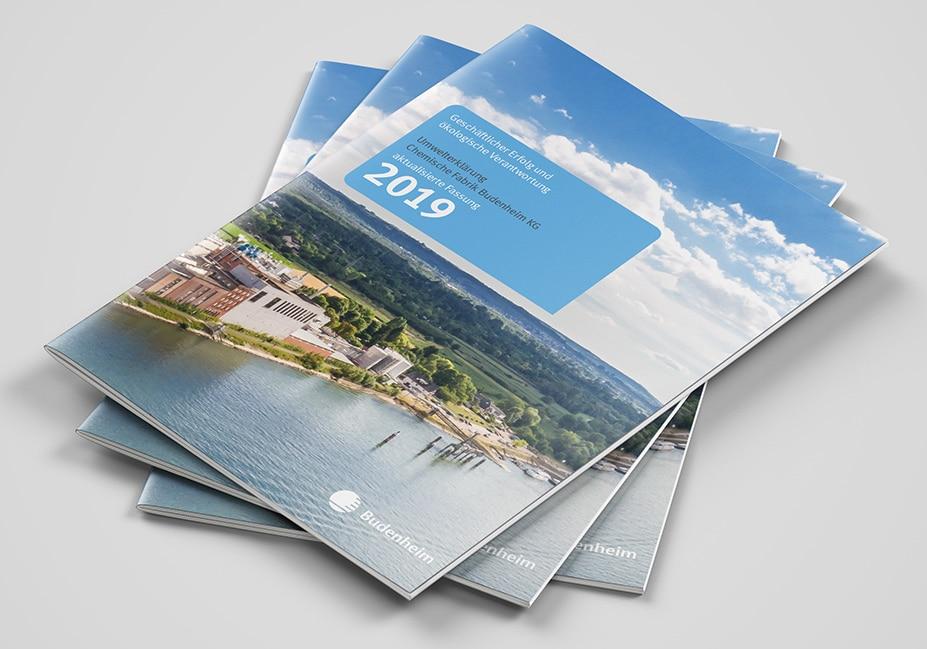 Umweltbroschüre Budenheim Cover Print Design