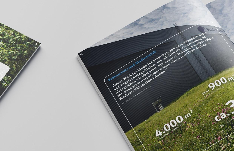 Budenheim Umweltbroschüre Gestaltung Text