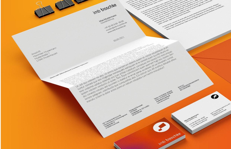 imb troschke Corporate Design Text und Grafik