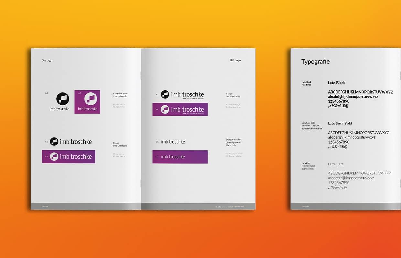 imb troschke Corporate Design Markenbuch Konzept