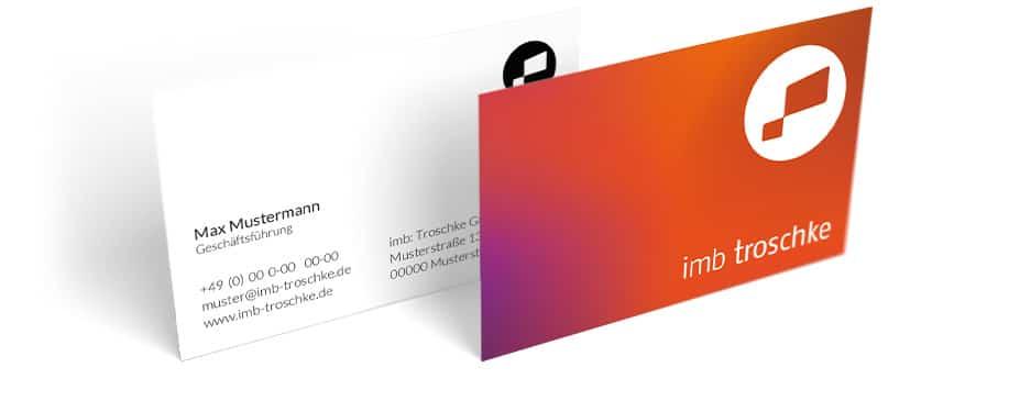 imb troschke Corporate Design Visitenkarte