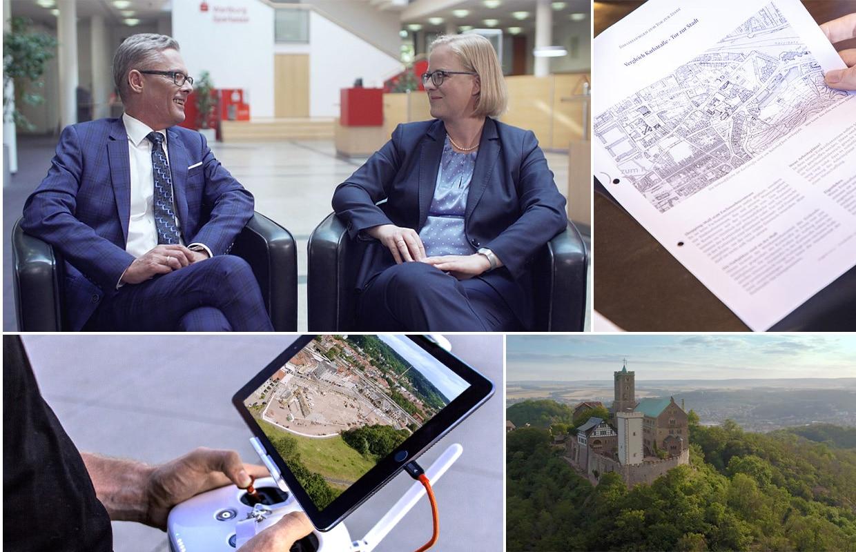Storyproduktion Helaba Tor zur Stadt Drohne Behind the Scenes